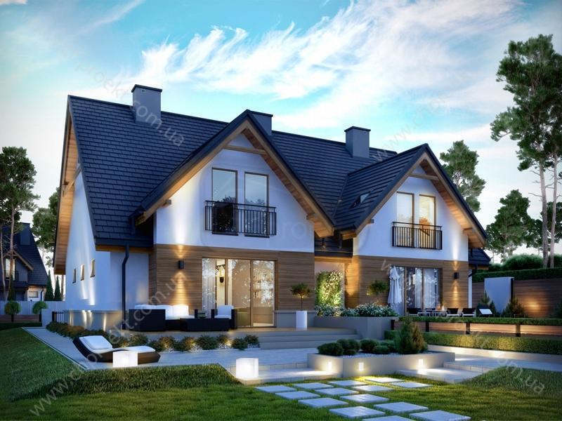 334782c2049 Проекти будинків на дві сім'ї: готові та типові, фото, каталог