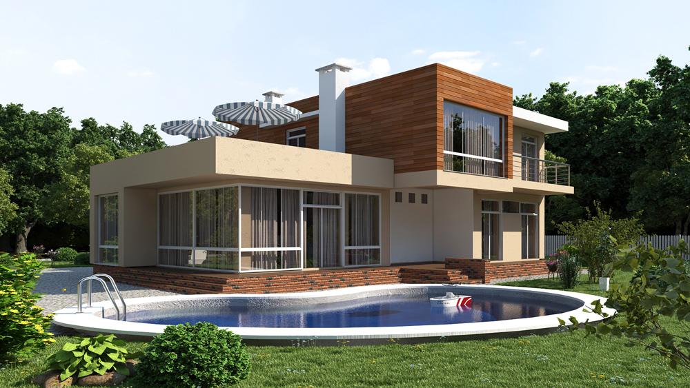 b8c9d67b0 Проекти двоповерхових будинків: готові та типові, фото, каталог